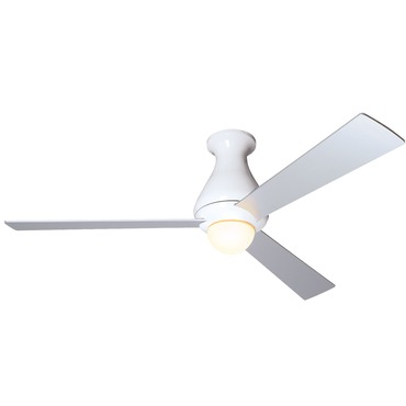 Altus Hugger Fan with Small Light by Modern Fan Co. | ALT-HUG-GW-52-AL-270-NC