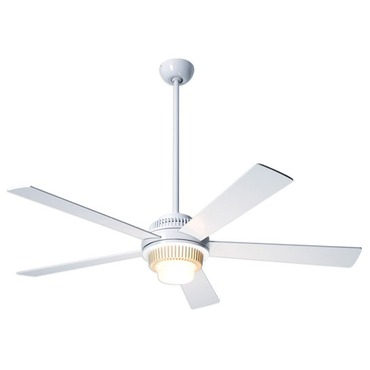 Solus Fan With Light by Modern Fan Co. | SOL-GW-52-WH-470-NC
