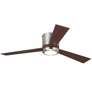 Clarity Flush Mount Ceiling Fan With Light