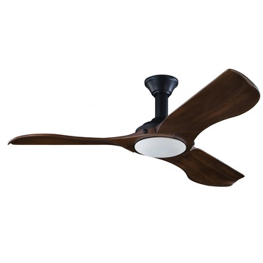 Minimalist Ceiling Fan with Light by Monte Carlo | 3MNLR56BKD