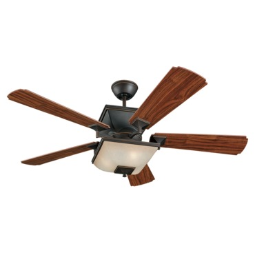 Town Ceiling Fan with Light by Monte Carlo | 5TQ52RBD-L