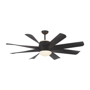 Turbine Ceiling Fan with Light by Monte Carlo | 8TNR56BKD