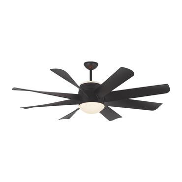 Turbine Ceiling Fan with Light