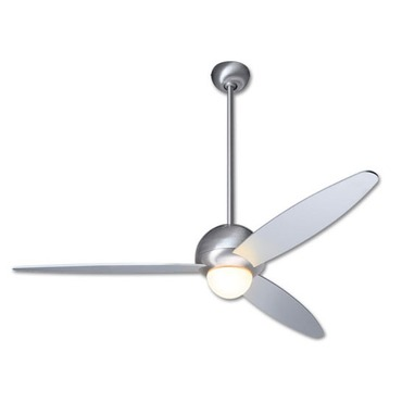 Plum Fan with Small Light by Modern Fan Co. | PLU-BA-52-AL-270-NC