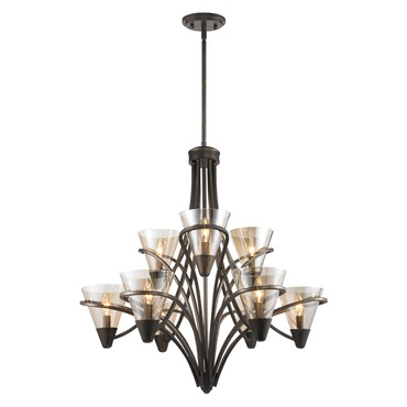 Olympia Two Tier Chandelier by Golden Lighting | 1648-9 BUS
