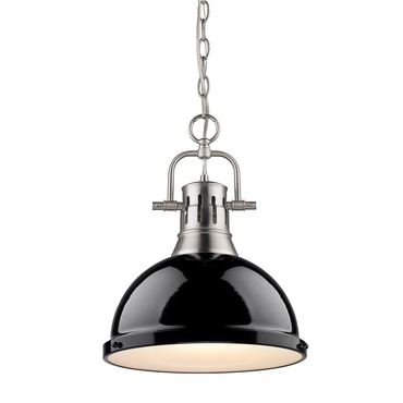 Duncan Chain Pendant by Golden Lighting | 3602-L PW-BK