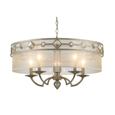 Coronada Chandelier by Golden Lighting | 6390-5 WG
