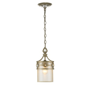 Coronada Mini Pendant by Golden Lighting | 6390-M1L WG