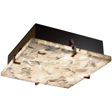 Alabaster Rocks Clips Flush Mount by Justice Design | ALR-5557-DBRZ-LED-3000