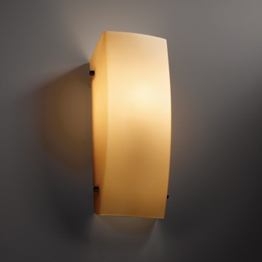 Fusion Rectangular ADA LED Wall Sconce by Justice Design | FSN-5135-ALMD-DBRZ-L-10