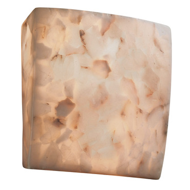 Alabaster Rocks Square ADA Wall Sconce by Justice Design | ALR-5120