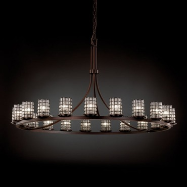 Dakota 21 Light Single Tier Chandelier