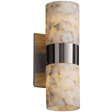 Dakota Up/Down Light Flat Rim Wall Sconce by Justice Design | ALR-8762-10-NCKL