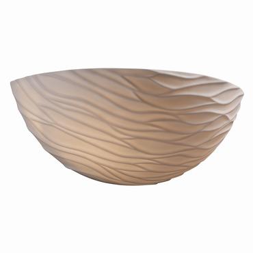 Limoges Waves Porcelain Bisque Wall Sconce by Justice Design   POR-8802-WAVE