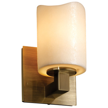 Modular Cylinder Melted Rim Candlearia Wall Sconce by Justice Design | CNDL-8921-14-CREM-ABRS