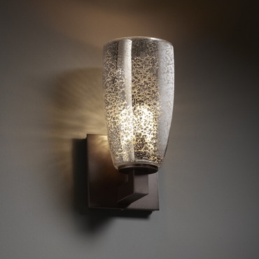 Modular Tall Tapered Fusion Wall Sconce by Justice Design | FSN-8921-28-MROR-DBRZ