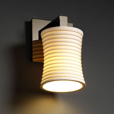 Modular Hourglass Limoges Wall Sconce