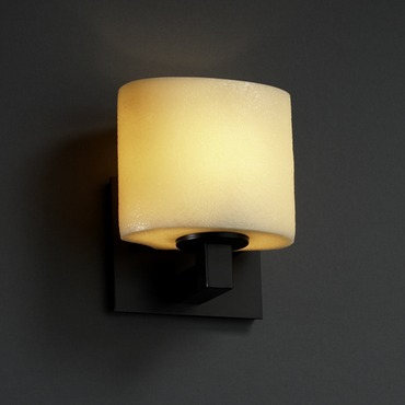 Modular Oval Candlearia Wall Sconce by Justice Design | CNDL-8931-30-AMBR-MBLK