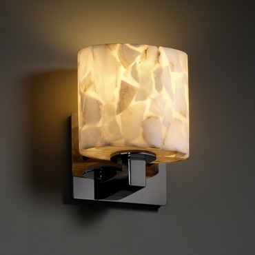 Modular Oval Wall Sconce by Justice Design | ALR-8931-30-BLKN