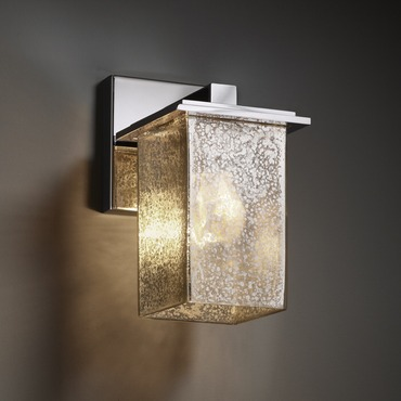 Montana Square Flat Rim Wall Sconce by Justice Design | FSN-8671-15-MROR-CROM