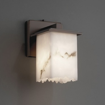Montana Square Broken Rim Lumenaria Wall Sconce by Justice Design | FAL-8671-17-DBRZ