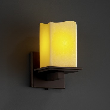 Montana Square Melted Rim Candlearia Wall Sconce