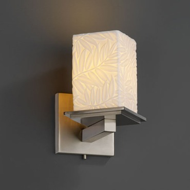 Montana Square Flat Rim Angled Bobeche Wall Sconce