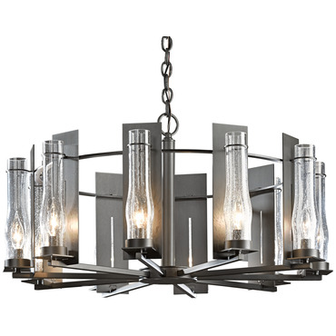 New Town 10 Arm Chandelier by Hubbardton Forge | 103290-07-I184
