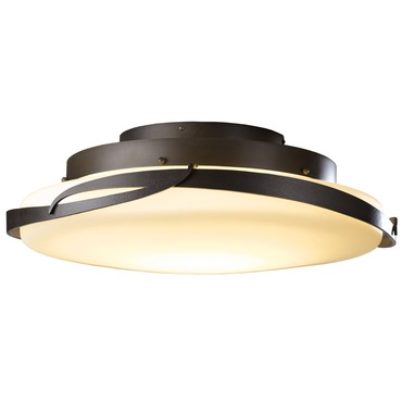 Flora LED Ceiling Light Fixture by Hubbardton Forge | 126742D-07-G437