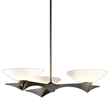 Moreau 3 Light Pendant by Hubbardton Forge | 136550-07-G396