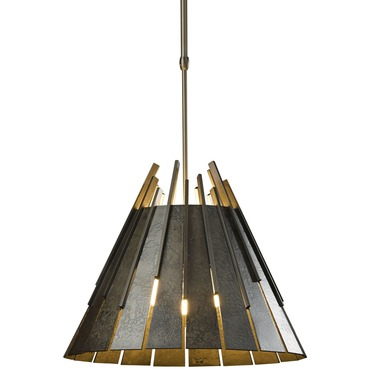 Finn Adjustable Pendant by Hubbardton Forge | 138901-07L-G45