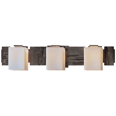 Impressions 3 Light Bath Bar by Hubbardton Forge | 207843-07-G108