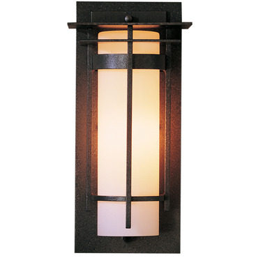 Banded Top Plate Small Outdoor Wall Light