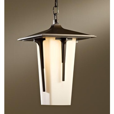 Modern Prairie Outdoor Pendant by Hubbardton Forge | 365710-07-G385
