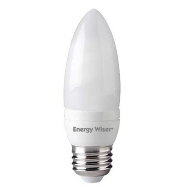 B10 E26 Med Base CFL 7W 120V