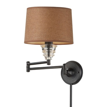 Insulator Plug In Swing Arm Wall Sconce By Elk Lighting
