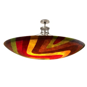 Mosaic Dome Semi Flush Mount