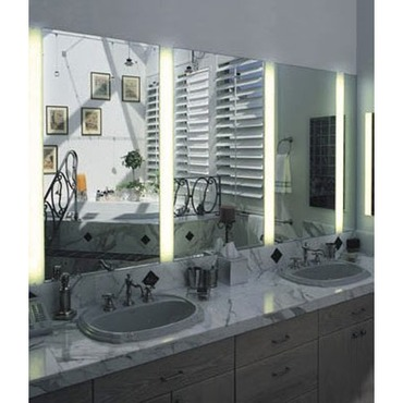 Bathroom wall recessed lighting recessed mirror lighting reflections vanity fixture aloadofball