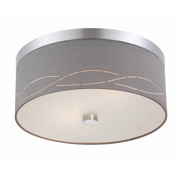 Silver Laser Ceiling Flush Mount