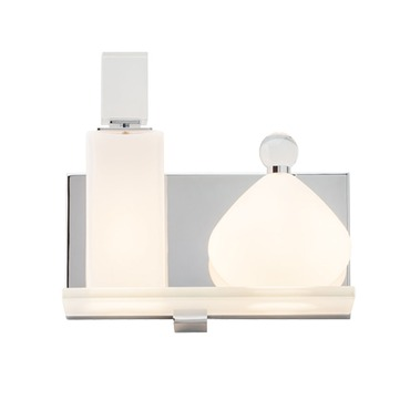 Lola Left Square Bathroom Vanity Light