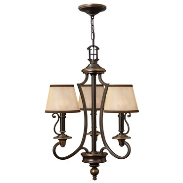 Plymouth 3 Light Chandelier with Shades
