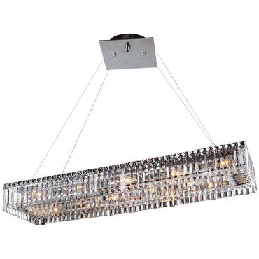 baguette rectangular chandelier by kalco 11709 010 fr001. Black Bedroom Furniture Sets. Home Design Ideas