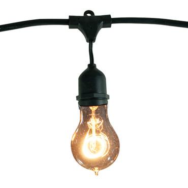 String Light Set A19 Med Base 48 Foot 15 Socket