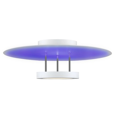 Chromaglo Spectrum LED Round Reflector Semi Flush Mount