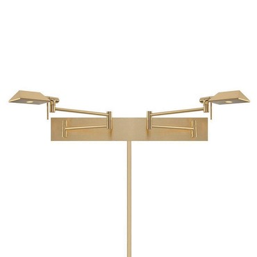Cue Dual Swing Arm Wall Sconce by WAC Lighting | BL-1327-BN