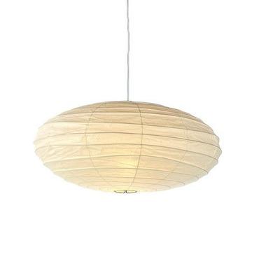 lamp noguchi round akarilight bamboo straight light ribbing pendant main akari