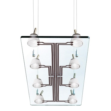 Lastra 8 Light Rectangular Suspension
