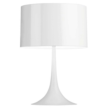 Spun Light T Table Lamp. Gloss Black Gloss White ...