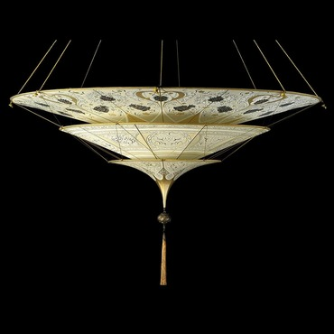 Scheherazade 3 Tier Geometric Suspension by Venetia Studium | LC-126 SH-1 BG