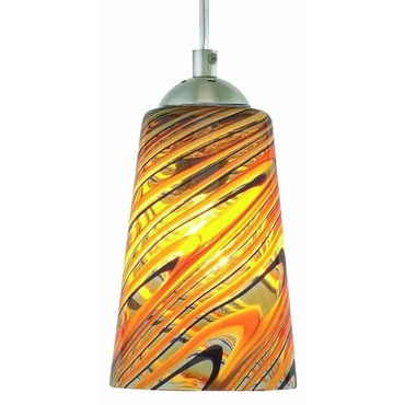 Taupe Feather Pendant by Oggetti | 22-L0205N
